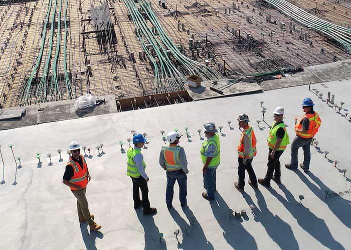 Construction men wearing PPE